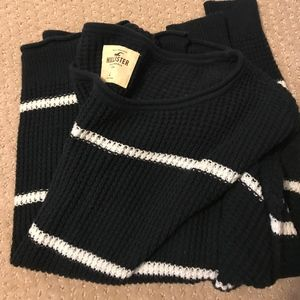 Chunky Knit Navy & White Stripe Sweater